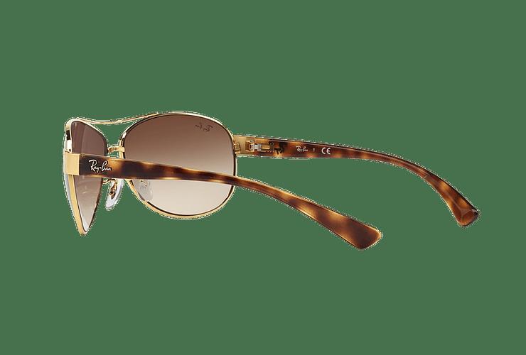Ray Ban Aviador Ovalado RB3386 Gold lente Brown Gradient cod. RB3386 001/13 63 - Image 4