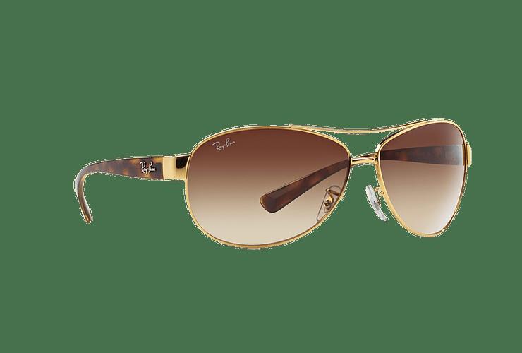 Ray Ban Aviador Ovalado RB3386 Gold lente Brown Gradient cod. RB3386 001/13 63 - Image 11