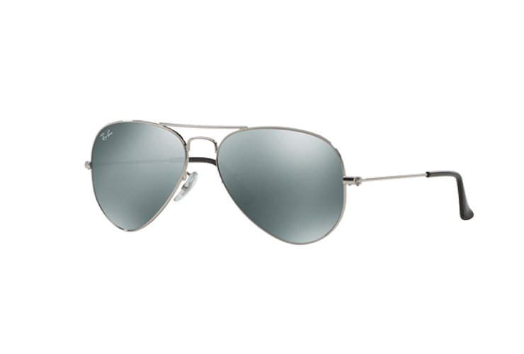 Ray Ban Aviador Silver lente Crystal Grey Mirror cod. RB3025 W3275 55 - Image 1