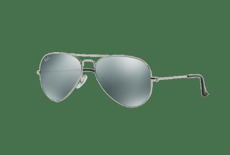 Ray Ban Aviador Silver lente Crystal Grey Mirror cod. RB3025 W3275 55 - Image 1
