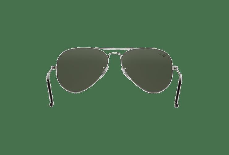Ray Ban Aviador Silver lente Crystal Grey Mirror cod. RB3025 W3275 55 - Image 6