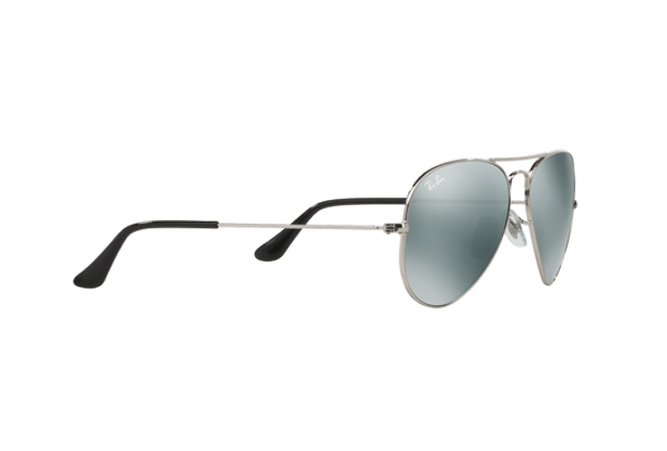 Ray Ban Aviador Silver lente Crystal Grey Mirror cod. RB3025 W3275 55 - Image 10