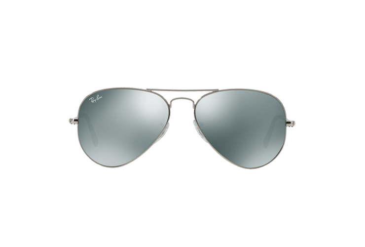 Ray Ban Aviador Silver lente Crystal Grey Mirror cod. RB3025 W3275 55 - Image 12