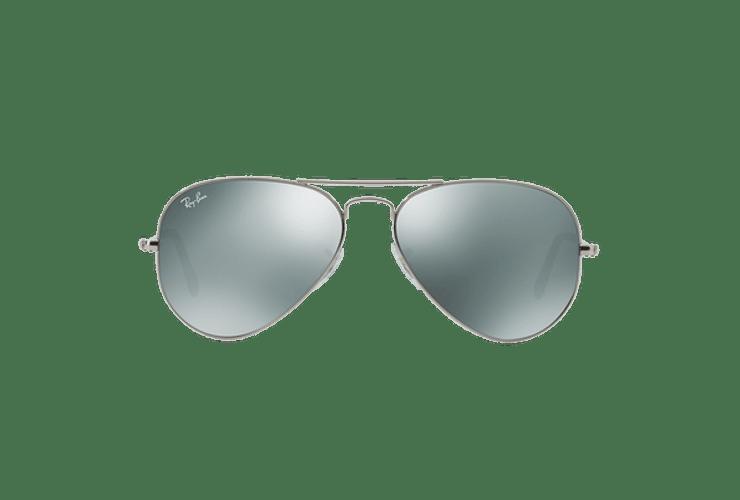 Ray Ban Aviador Silver lente Crystal Grey Mirror cod. RB3025 W3275 55 - Image 12