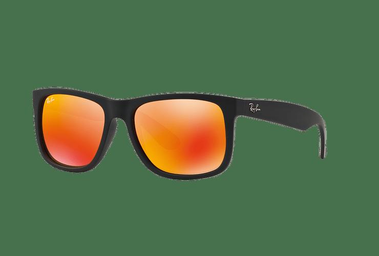Ray Ban Justin Rubber Black lente Orange Mirror cod. RB4165 622/6Q 55 - Image 1