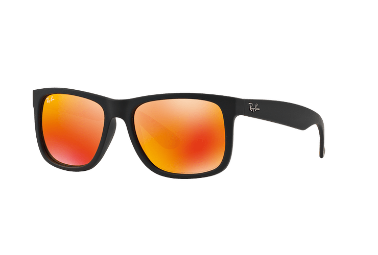 Ray Ban Justin Rubber Black lente Orange Mirror cod. RB4165 622/6Q 54 - Image 1