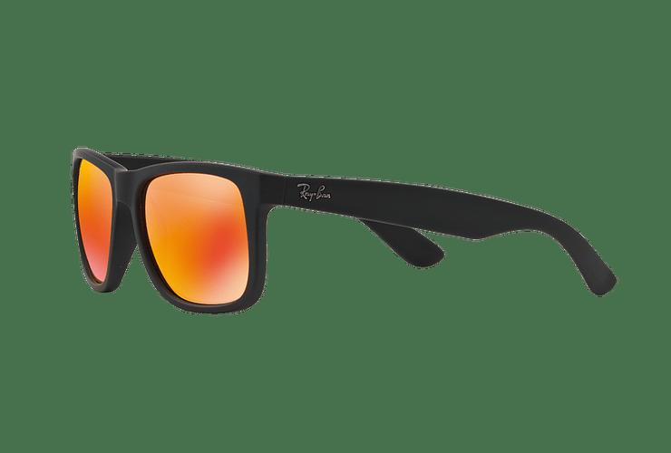 Ray Ban Justin Rubber Black lente Orange Mirror cod. RB4165 622/6Q 55 - Image 2