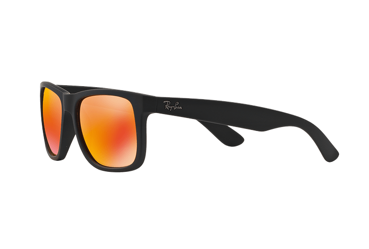 Ray Ban Justin Rubber Black lente Orange Mirror cod. RB4165 622/6Q 54 - Image 2