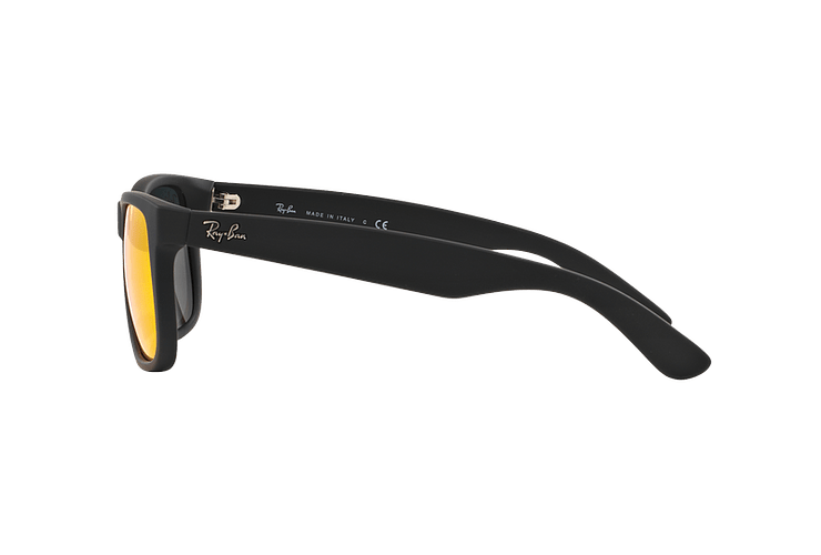 Ray Ban Justin Rubber Black lente Orange Mirror cod. RB4165 622/6Q 55 - Image 3
