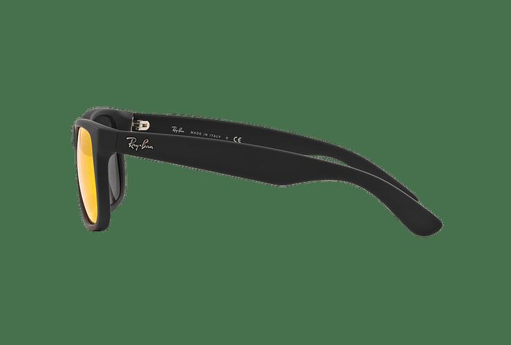 Ray-Ban Justin Rubber Black lente Orange Mirror cod. RB4165 622/6Q 55 - Image 3