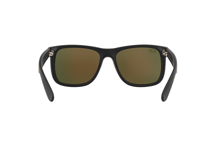 Ray Ban Justin Rubber Black lente Orange Mirror cod. RB4165 622/6Q 55 - Image 6