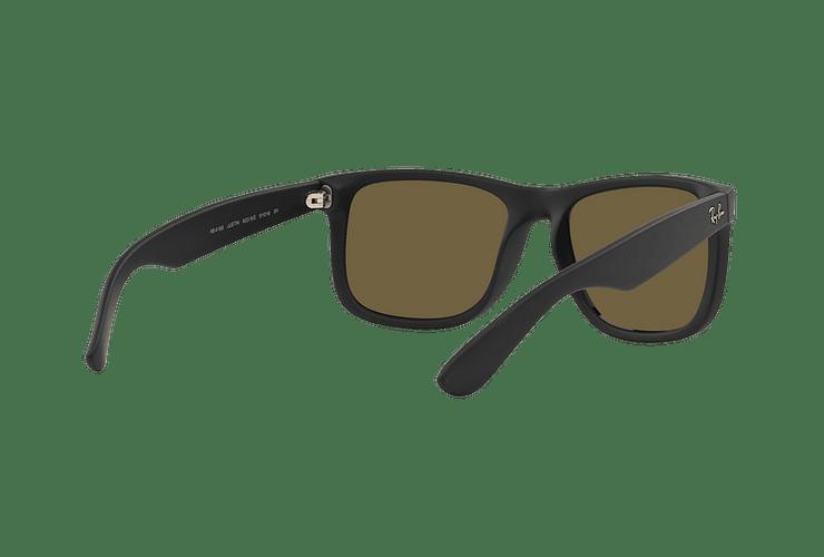 Ray-Ban Justin Rubber Black lente Orange Mirror cod. RB4165 622/6Q 55 - Image 7
