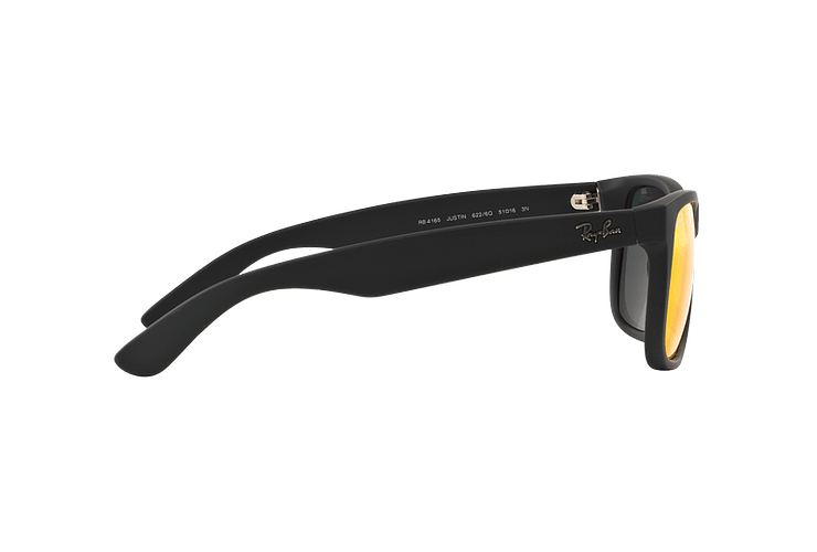 Ray Ban Justin Rubber Black lente Orange Mirror cod. RB4165 622/6Q 55 - Image 9