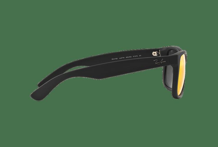 Ray-Ban Justin Rubber Black lente Orange Mirror cod. RB4165 622/6Q 55 - Image 9