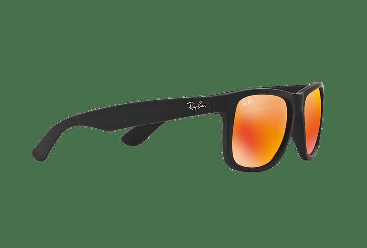 Ray Ban Justin Rubber Black lente Orange Mirror cod. RB4165 622/6Q 55 - Image 10