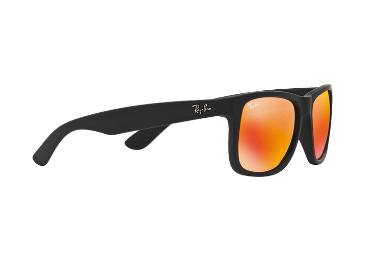 Ray Ban Justin Rubber Black lente Orange Mirror cod. RB4165 622/6Q 54 - Image 10