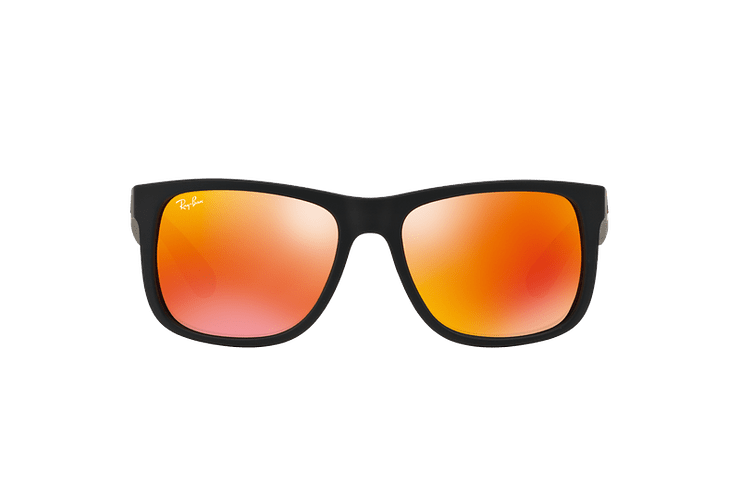 Ray Ban Justin Rubber Black lente Orange Mirror cod. RB4165 622/6Q 55 - Image 12