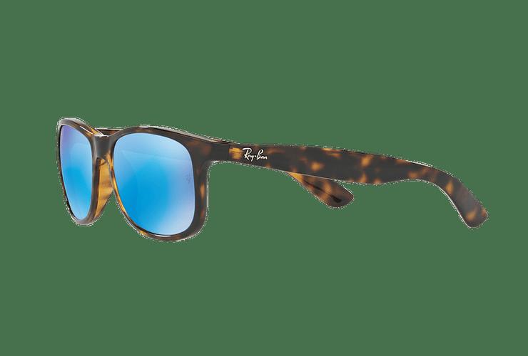 Ray Ban Andy Shiny Havana lente Blue / Green Mirror Polarized cod. RB4202 710/9R 55 - Image 2