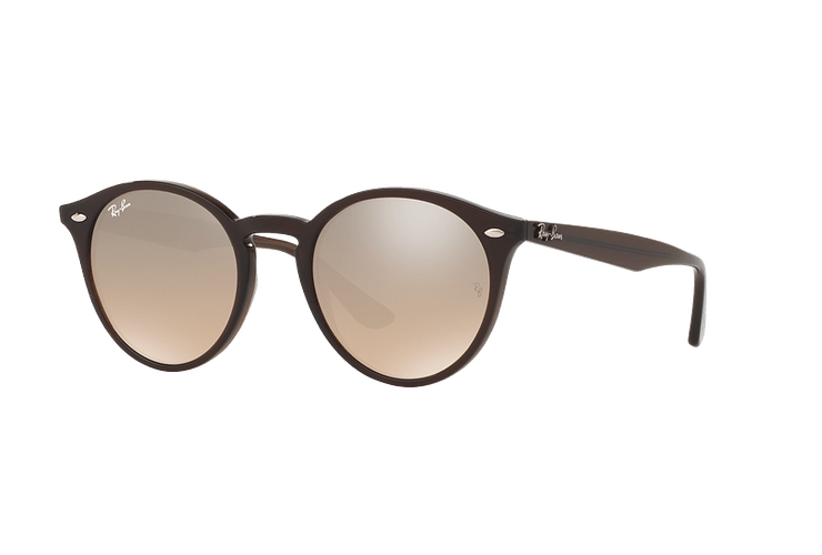 Ray Ban Round RB2180 Opal Brown lente Brown / Silver Mirror Gradient cod. RB2180 62313D 51 - Image 1