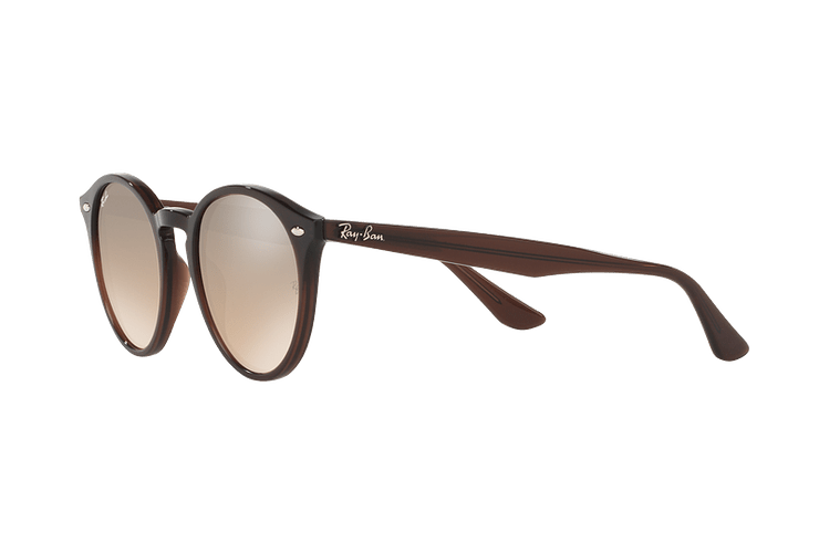 Ray Ban Round RB2180 Opal Brown lente Brown / Silver Mirror Gradient cod. RB2180 62313D 51 - Image 2