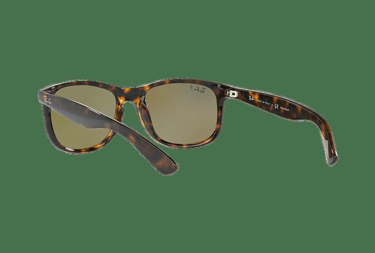 Ray Ban Andy Shiny Havana lente Blue / Green Mirror Polarized cod. RB4202 710/9R 55 - Image 5