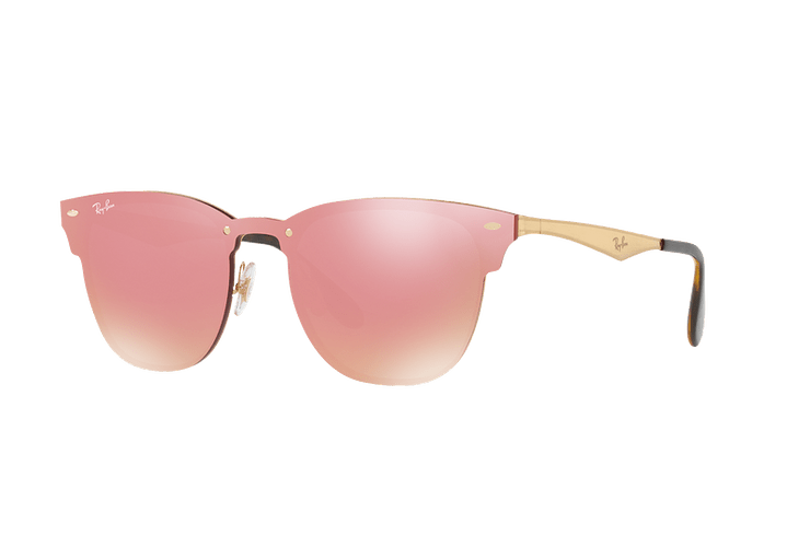 Ray Ban Blaze Clubmaster Brusched Gold lente Pink Mirror cod. RB3576N 043/E4 41 - Image 1
