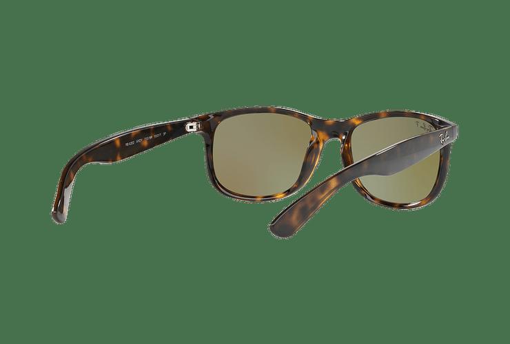 Ray Ban Andy Shiny Havana lente Blue / Green Mirror Polarized cod. RB4202 710/9R 55 - Image 7
