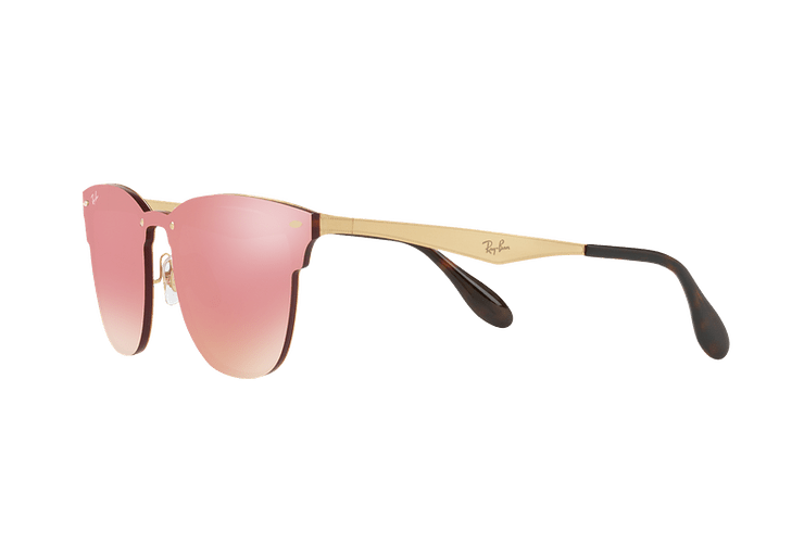 Ray Ban Blaze Clubmaster Brusched Gold lente Pink Mirror cod. RB3576N 043/E4 41 - Image 2