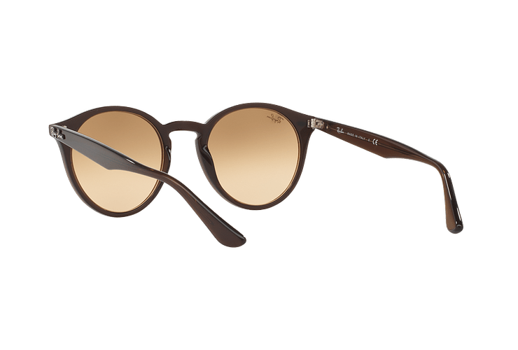 Ray Ban Round RB2180 Opal Brown lente Brown / Silver Mirror Gradient cod. RB2180 62313D 51 - Image 5