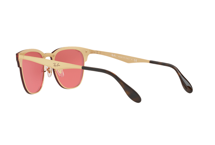 Ray Ban Blaze Clubmaster Brusched Gold lente Pink Mirror cod. RB3576N 043/E4 41 - Image 4