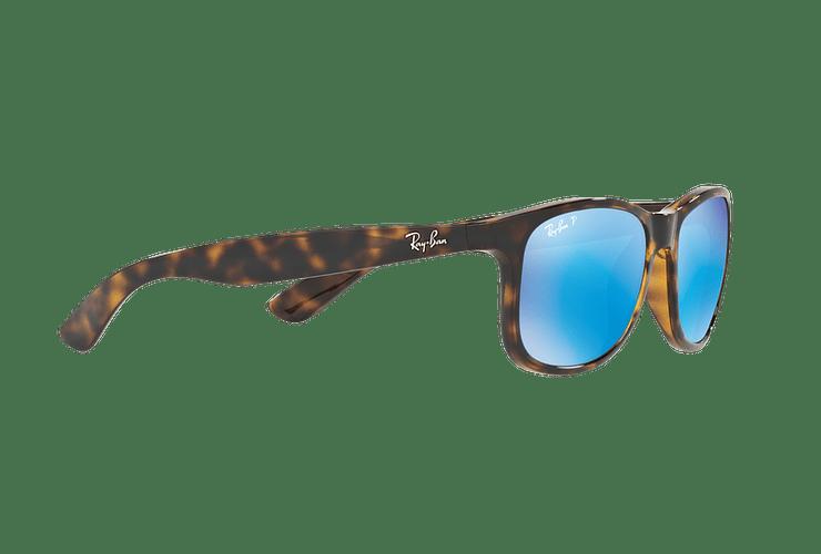 Ray Ban Andy Shiny Havana lente Blue / Green Mirror Polarized cod. RB4202 710/9R 55 - Image 10