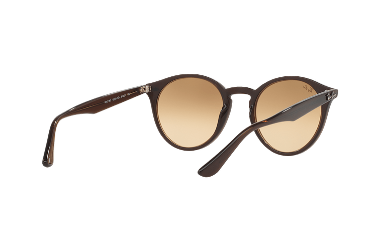 Ray Ban Round RB2180 Opal Brown lente Brown / Silver Mirror Gradient cod. RB2180 62313D 51 - Image 7