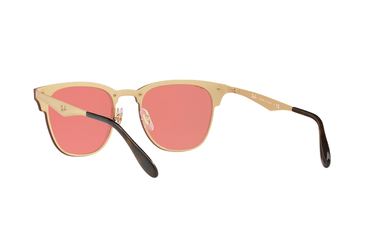 Ray Ban Blaze Clubmaster Brusched Gold lente Pink Mirror cod. RB3576N 043/E4 41 - Image 5