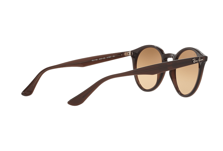 Ray Ban Round RB2180 Opal Brown lente Brown / Silver Mirror Gradient cod. RB2180 62313D 51 - Image 8