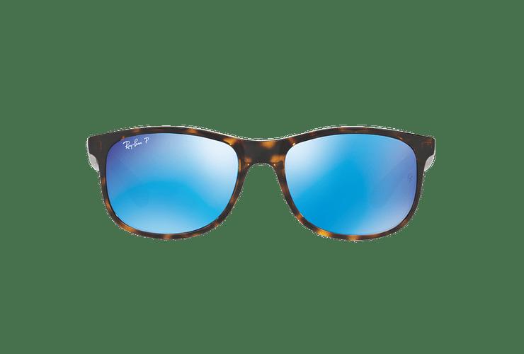 Ray Ban Andy Shiny Havana lente Blue / Green Mirror Polarized cod. RB4202 710/9R 55 - Image 12