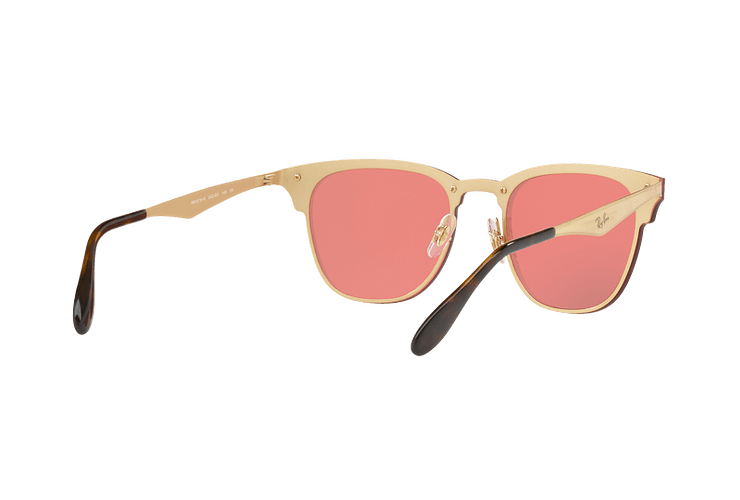 Ray Ban Blaze Clubmaster Brusched Gold lente Pink Mirror cod. RB3576N 043/E4 41 - Image 7
