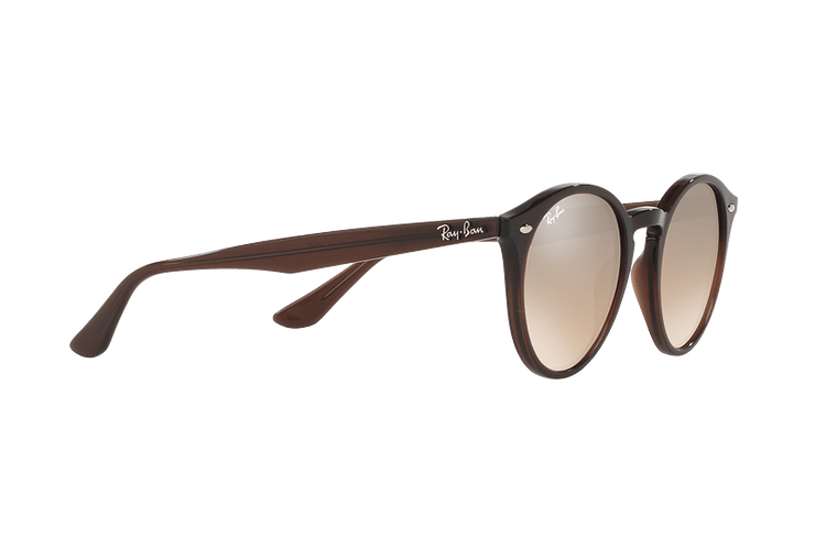 Ray Ban Round RB2180 Opal Brown lente Brown / Silver Mirror Gradient cod. RB2180 62313D 51 - Image 10