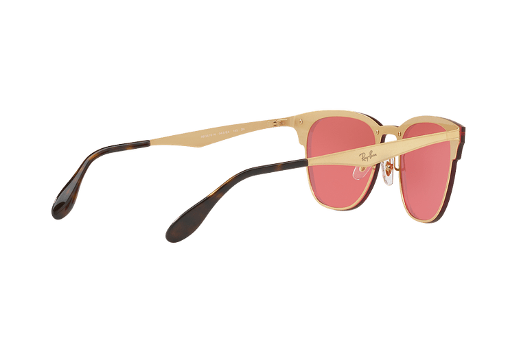 Ray Ban Blaze Clubmaster Brusched Gold lente Pink Mirror cod. RB3576N 043/E4 41 - Image 8
