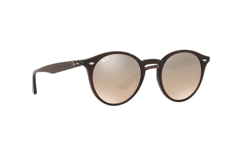 Ray Ban Round RB2180 Opal Brown lente Brown / Silver Mirror Gradient cod. RB2180 62313D 51 - Image 11