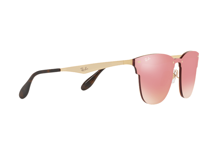 Ray Ban Blaze Clubmaster Brusched Gold lente Pink Mirror cod. RB3576N 043/E4 41 - Image 10