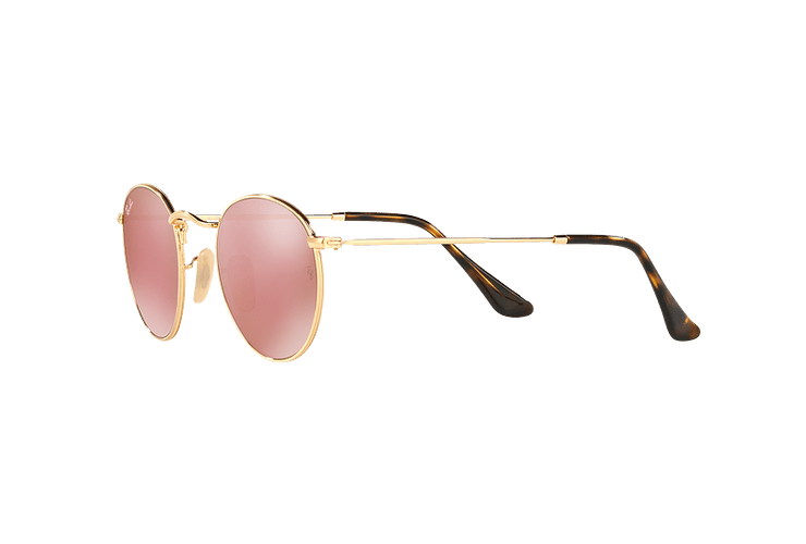 Ray Ban Round Metal Shiny Gold lente Copper Flash cod. RB3447N 001/Z2 50 - Image 2
