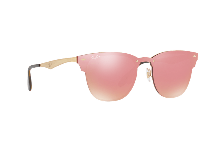 Ray Ban Blaze Clubmaster Brusched Gold lente Pink Mirror cod. RB3576N 043/E4 41 - Image 11
