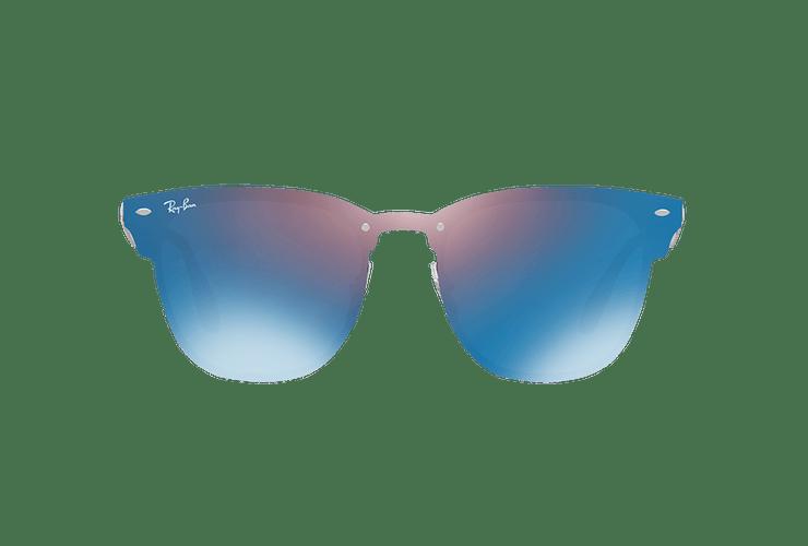 Ray Ban Blaze Clubmaster Black lente Violet / Blue Mirror cod. RB3576N 153/7V 41 - Image 12