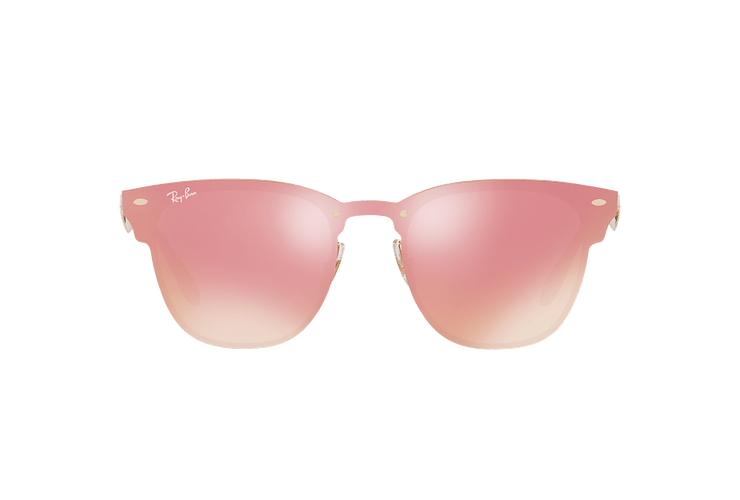Ray Ban Blaze Clubmaster Brusched Gold lente Pink Mirror cod. RB3576N 043/E4 41 - Image 12