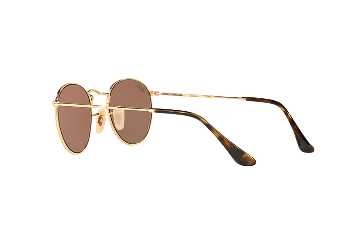 Ray-Ban Round Metal Shiny Gold lente Copper Flash cod. RB3447N 001/Z2 50 - Image 4