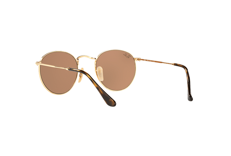 Ray Ban Round Metal Shiny Gold lente Copper Flash cod. RB3447N 001/Z2 50 - Image 5