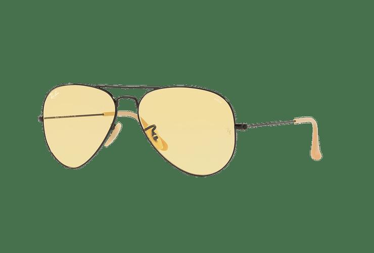 Ray Ban Aviador Matte Black lente Yellow Fotocromáticos cod. RB3025 90664A 58 - Image 1
