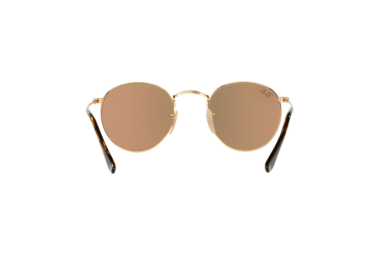 Ray Ban Round Metal Shiny Gold lente Copper Flash cod. RB3447N 001/Z2 50 - Image 6
