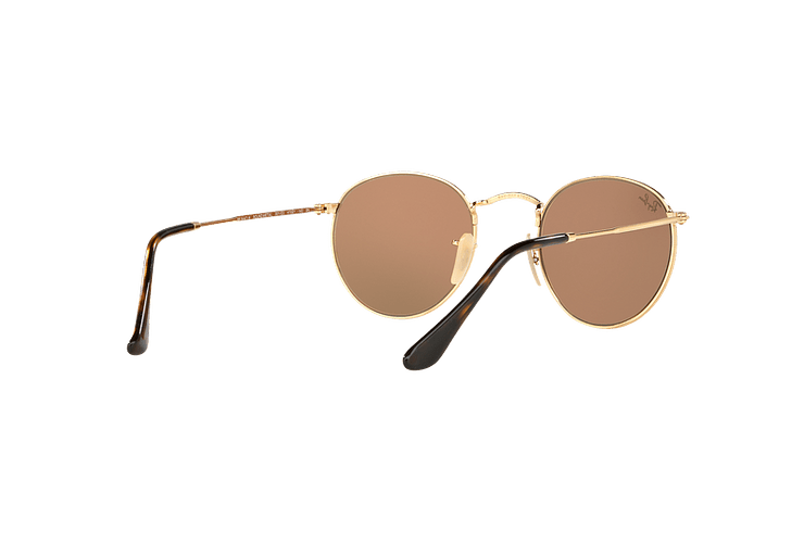 Ray Ban Round Metal Shiny Gold lente Copper Flash cod. RB3447N 001/Z2 50 - Image 7