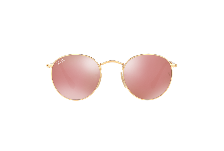 Ray Ban Round Metal Shiny Gold lente Copper Flash cod. RB3447N 001/Z2 50 - Image 12